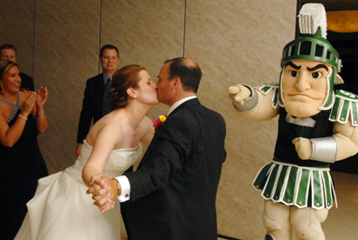Michigan wedding photojournalist gets rave reviews from this sparty loving bride