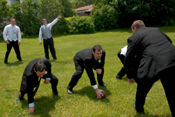 Dearborn Heights groom prepares for his wedding with a game of football.