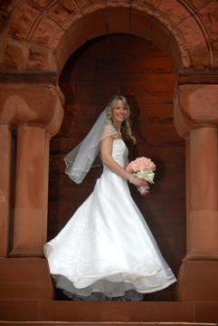 The bride in the arch routine