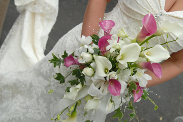 Close up of Port Huron brides dress after her Black River Country Club wedding.