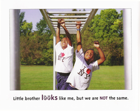 Michigan children's author and photo illustrator uses photographs to illustrate the book big brother little brother