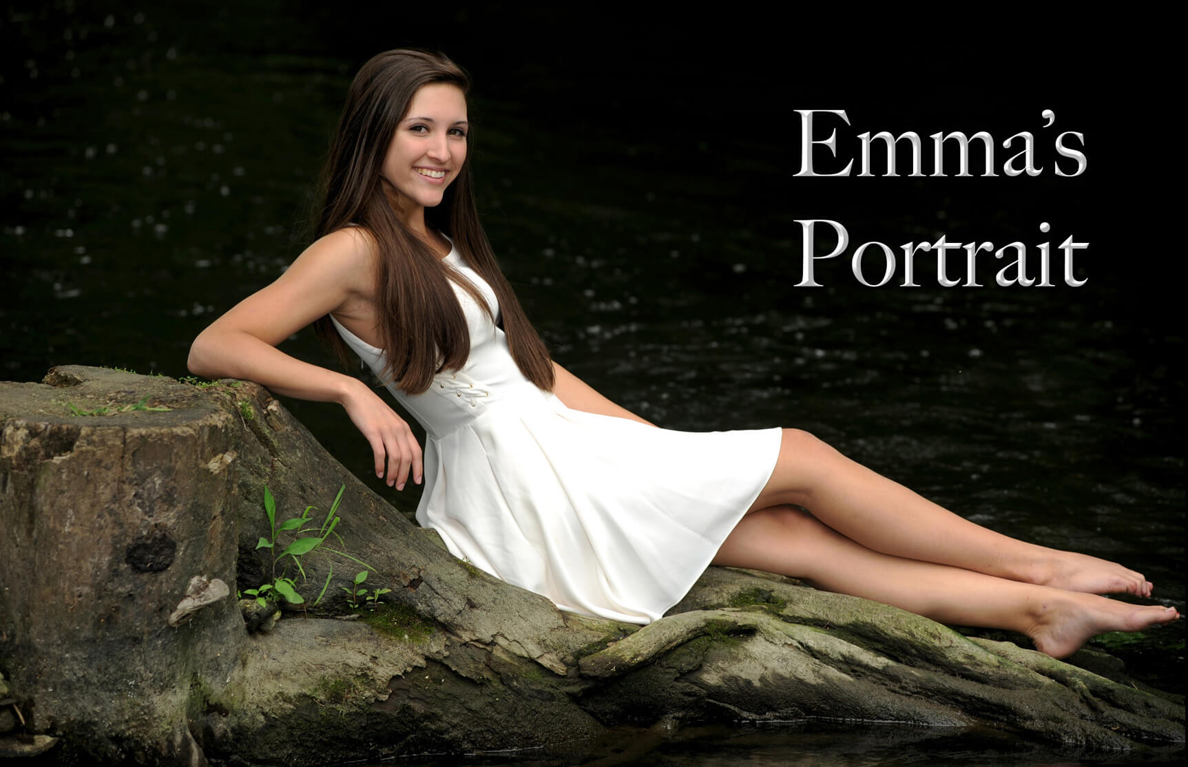 A Troy, Michigan senior poses at a local Michigan park for her senior pictures taken on location.