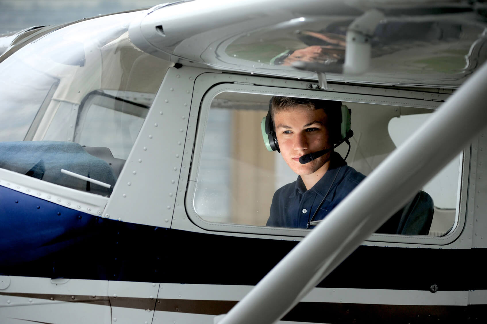 High school seniors have all kinds of talents and interests, like this Troy, Michigan senior who wanted to showcase his aviation skills.