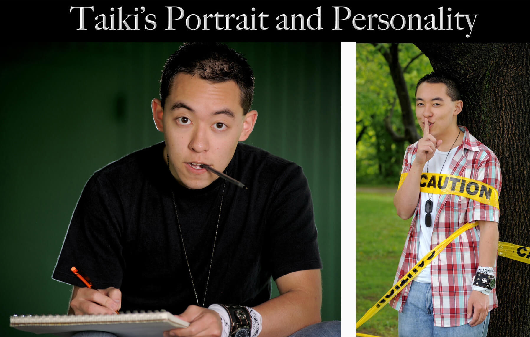 An Athens High school senior who is artistic and quirky put his personality on full display during his senior pictures session.