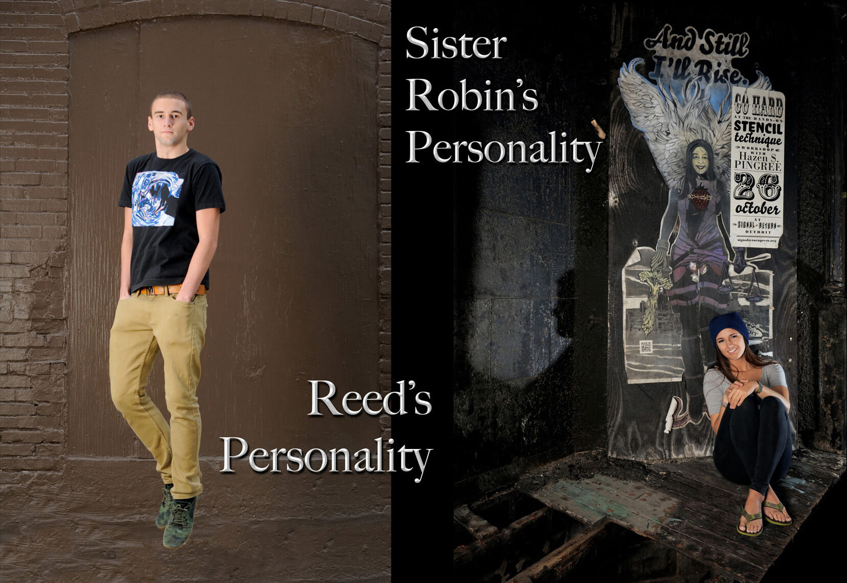 This Troy, Michigan seniors photos and personality are totally different from his sister�����������������s, so their photos look and feel competely different.