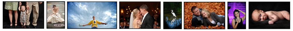 photo banner with images of best michigan wedding photography, affordable childrens photos and senior pictures